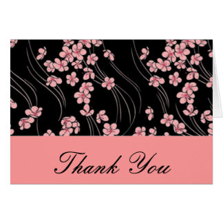 Cherry Blossoms on Black Card