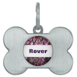 Cherry Blossoms on Pet Name Tag