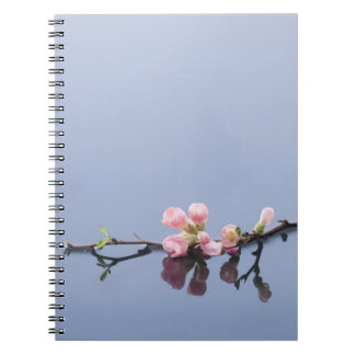Cherry blossoms on water notebook