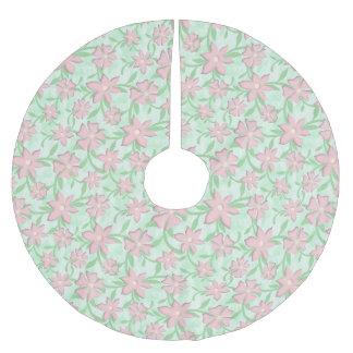 Cherry Blossoms Pink Sakura Bloom Spring Flowers Brushed Polyester Tree Skirt