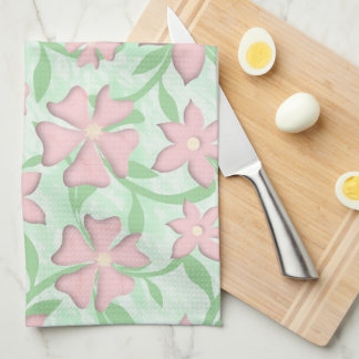 Cherry Blossoms Pink Sakura Bloom Spring Flowers Kitchen Towel