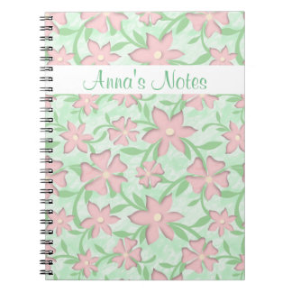 Cherry Blossoms Pink Sakura Bloom Spring Flowers Notebooks