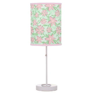 Cherry Blossoms Pink Sakura Bloom Spring Flowers Table Lamp