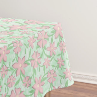 Cherry Blossoms Pink Sakura Bloom Spring Flowers Tablecloth