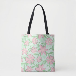 Cherry Blossoms Pink Sakura Bloom Spring Flowers Tote Bag
