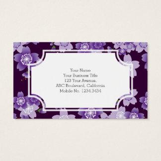 Cherry Blossoms Purple Sakura Business Card