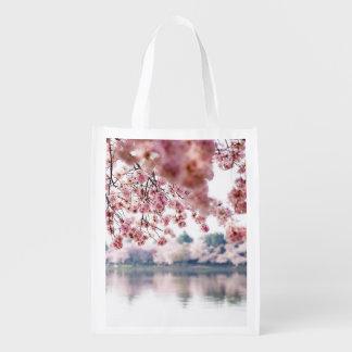 Cherry Blossoms Reusable Grocery Bag