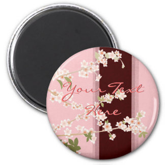 Cherry Blossoms Round Magnet