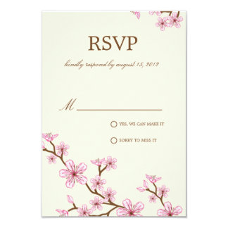 CHERRY BLOSSOMS | RSVP CARD