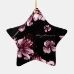 Cherry Blossoms Sakura Ceramic Star Ornament