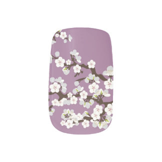 Cherry Blossoms Sakura Minx purple) Minx Nail Art
