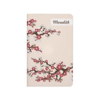 Cherry Blossoms Sakura Pocket Journal (red)