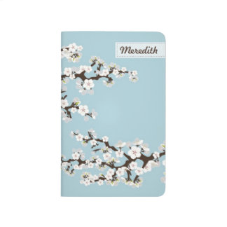 Cherry Blossoms Sakura Pocket Journal (sky blue)