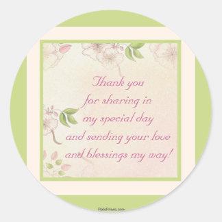 Cherry Blossoms Sticker/Return Address Label Round Sticker
