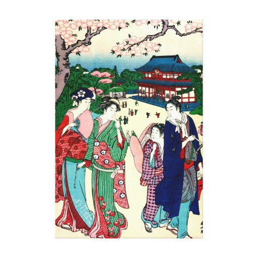 Cherry Blossoms Ueno Japan 1781 Stretched Canvas Prints