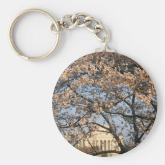 Cherry Blossoms Washington DC Basic Round Button Keychain