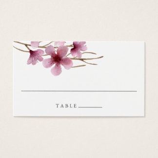 Cherry Blossoms Wedding Escort Place Cards