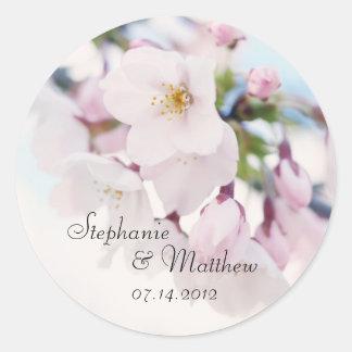 Cherry Blossoms Wedding Favor Label