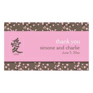 Cherry Blossoms Wedding Favor Tag Business Card