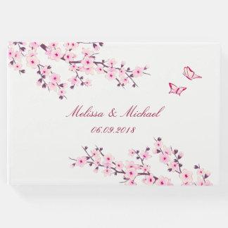 Cherry Blossoms Wedding Guest Book