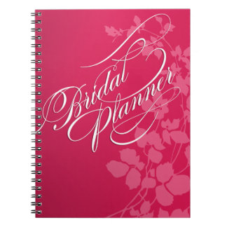 Cherry Blossoms Wedding Planner fuschia | pink Notebook
