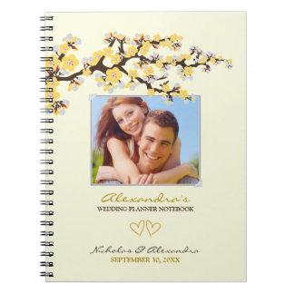 Cherry Blossoms Wedding Planner Notebook (yellow)