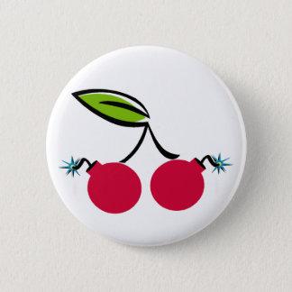 Cherry Bomb 2 Inch Round Button