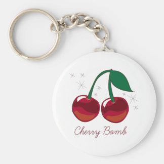 Cherry Bomb Basic Round Button Keychain