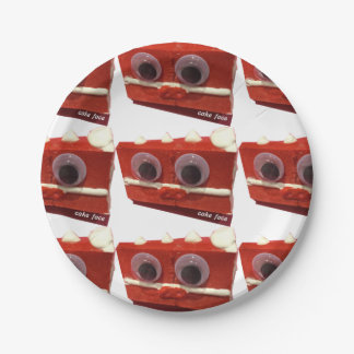 Cherry Bomb Cake Face Paper Plates 7 Inch Paper Plate