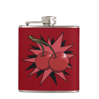 Cherry Bomb Hip Flask