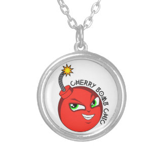 CHERRY BOMB SILVER PLATED NECKLACE