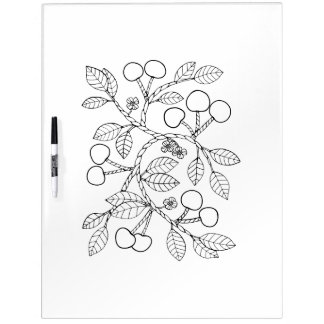Cherry Branch Adult Coloring Dry Erase Board