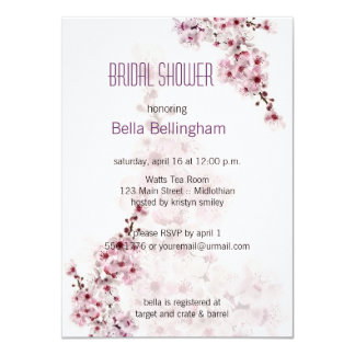 Cherry Branch Bridal Shower Invitation
