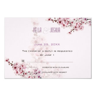 Cherry Branches RSVP Card