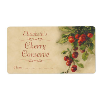 Cherry Canning label Shipping Label