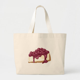 Cherry Cheesecake Large Tote Bag