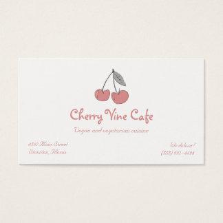Cherry Cherries Logo Business Card