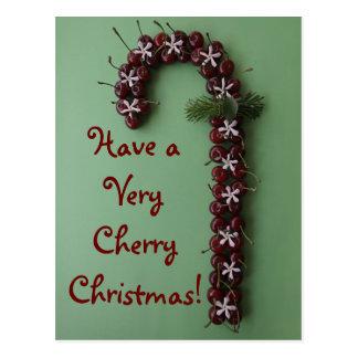 Cherry Christmas Postcard