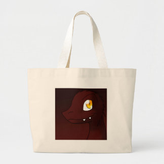 Cherry Cola Dark Red Microraptor Dinosaur Large Tote Bag