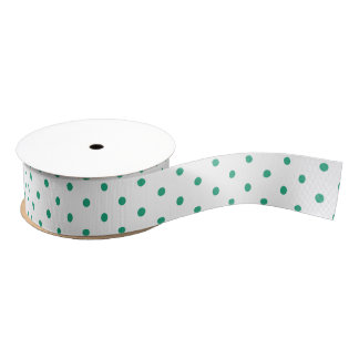 Cherry Cottage Aqua Dotted Ribbon Grosgrain Ribbon