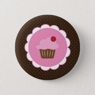 Cherry Cupcake 2 Inch Round Button