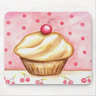 Cherry Cupcake Art Mousepad