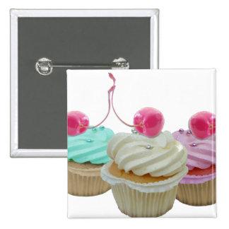 Cherry cupcakes 2 inch square button