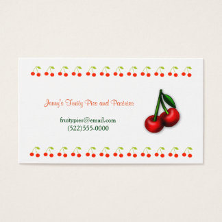 Cherry Design and Logo Business Card