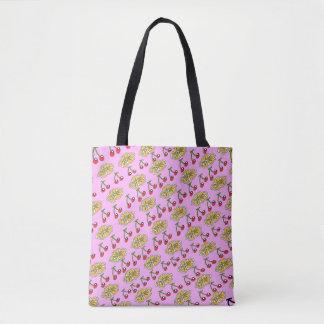 Cherry Flower Pattern Design Tote Bag
