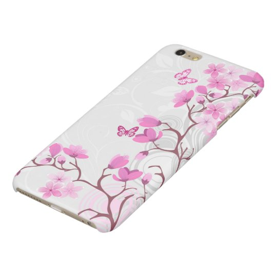 Cherry Flowers Glossy iPhone 6 Plus Case