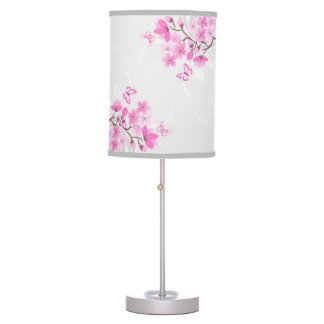 Cherry Flowers Table Lamp