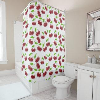Cherry Fruit Pattern on Shower Curtain