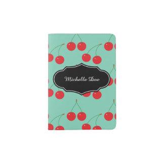 Cherry Fruit Pattern Passport Holder