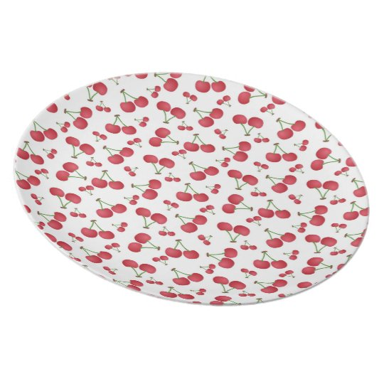 Cherry-Fruit Picnic Plate